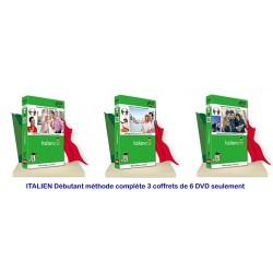 ITALIEN Débutant méthode complète 6 DVD seulement